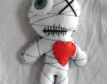White Mummy Voodoo Doll - Valentine's Day, Wicca, Love, Witchcraft, Occult, Esoteric, Galentines, Wedding, Mystic, Gothic, Monster, Spell
