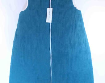 Teal sleeping bag / / double gauze cotton