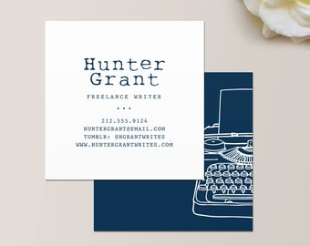 Writer business card etsy quick view typewriter square business card colourmoves
