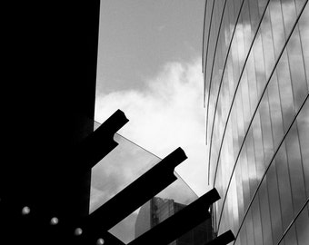 Architecture in the Sky, London Signed Black and White Fine Art Print / Architecture Photography / London Photo