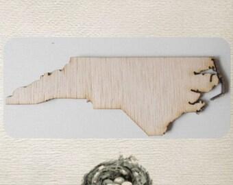 North Carolina State (Medium) Wood Cut Out - Laser Cut