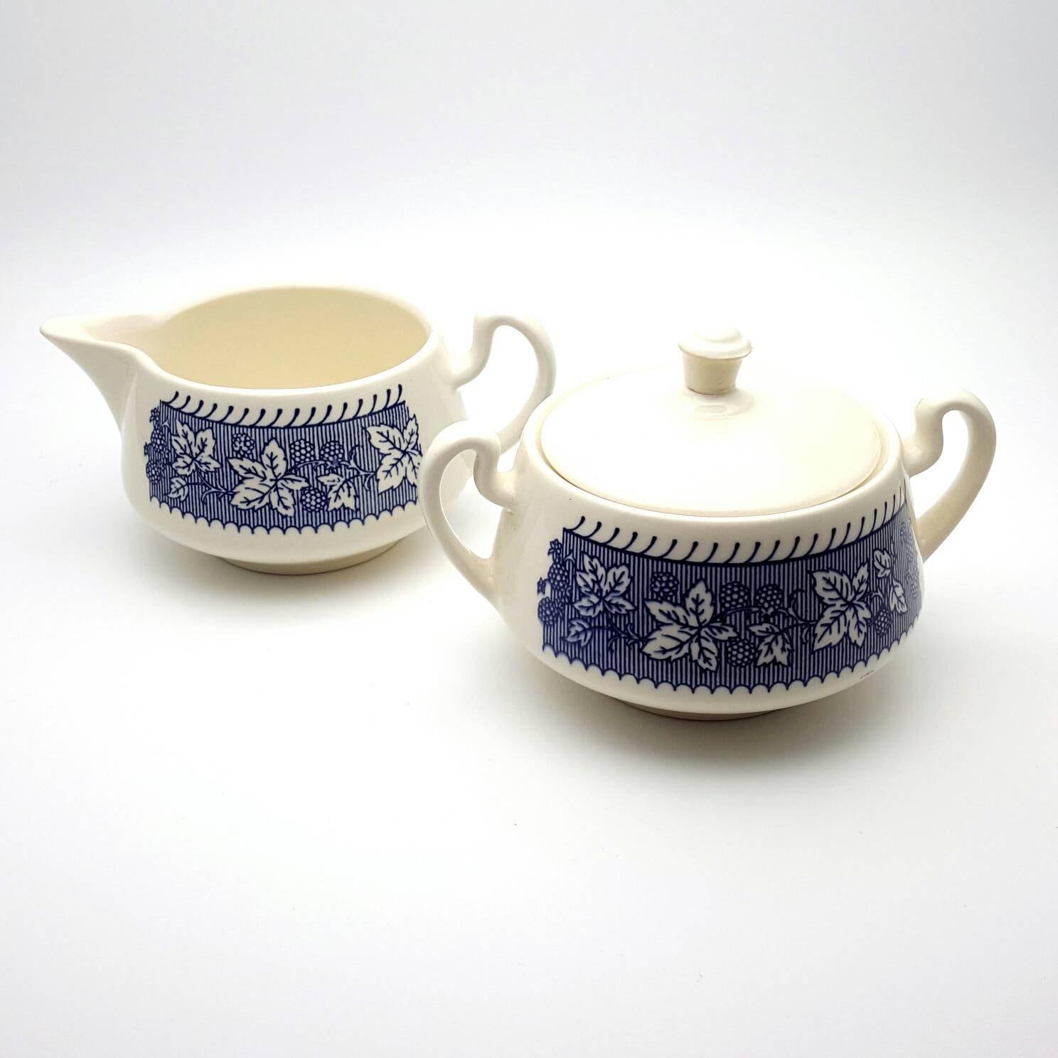 Vintage Kaffeeweißer und Zucker Schale Geschirr hergestellt in