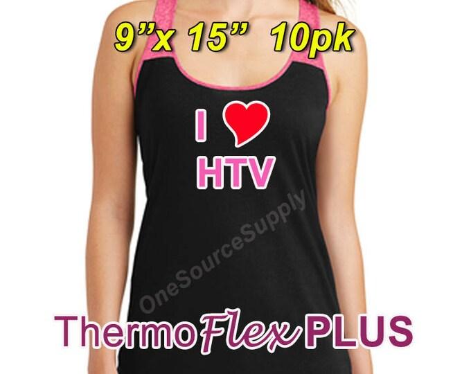 "9""x 15"" / 10-sheet / ThermoFlex Plus - Heat Transfer Vinyl - HTV"