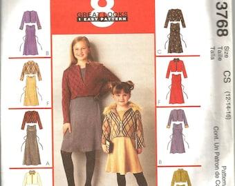 McCalls 3768 uncut size 12 - 16 girls jacket and dress