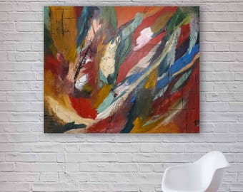 Large Original Abstract Painting | Modern Acrylic Art | Canvas Wall Art | 120x100