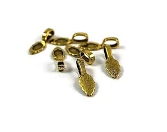 Bail, Gold Bail, Antique Gold Bail, Glue on Bail   10pcs