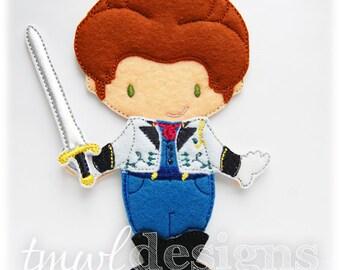 Prince Felt Paper Doll Outfit Digital Design File - 5x7