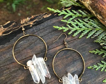 Earrings - Strawbery Quartz