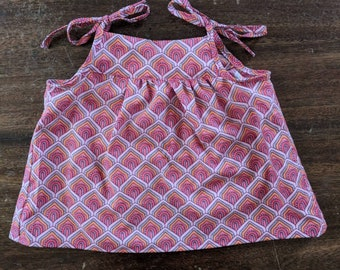 Little girls pinafore and bloomers outfit set - vintage inspired