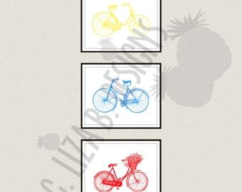 Colorful Bicycle Art Prints