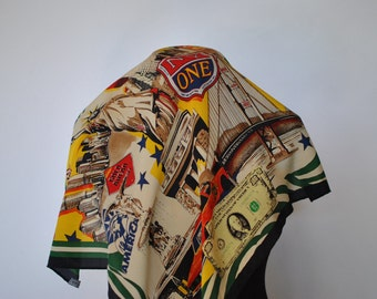 Vintage CODELLO printed silk scarf....(056)