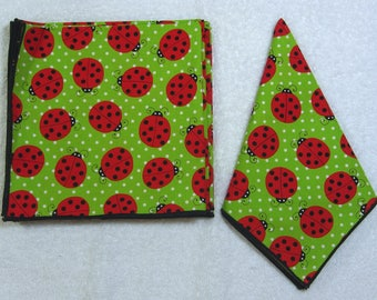 Everyday Eco Friendly Reusable Cotton Napkins 14 x 14 Set of 6 Ready to Ship
