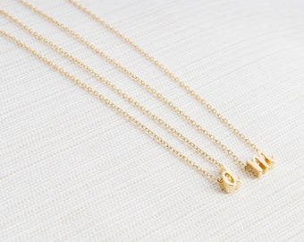 Gold Letter Necklace, Gold Lower Case Initial Necklace, Personalised Jewellery, Gold Plated Necklace, Name Necklace, Gift Idea