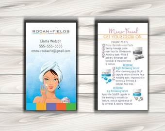 printable - skin care business cards - mommy calling cards -personalized - 3.5x2 - Lady Apply Cream