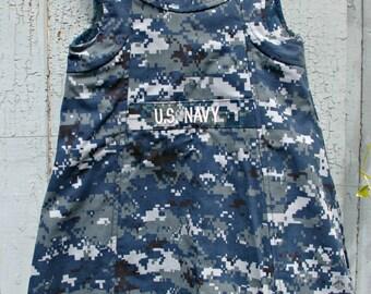 Girls US Navy Military Dress