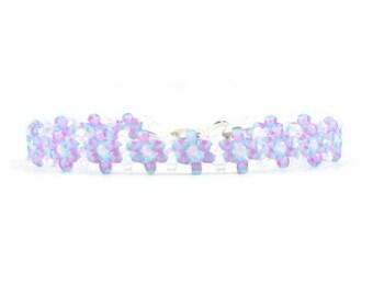 Purple Bracelet - Children's Jewelry - Daisy Chain Bracelet - Girls Jewelry - Child's Bracelet - Kids Jewelry - Seed Bead Bracelet