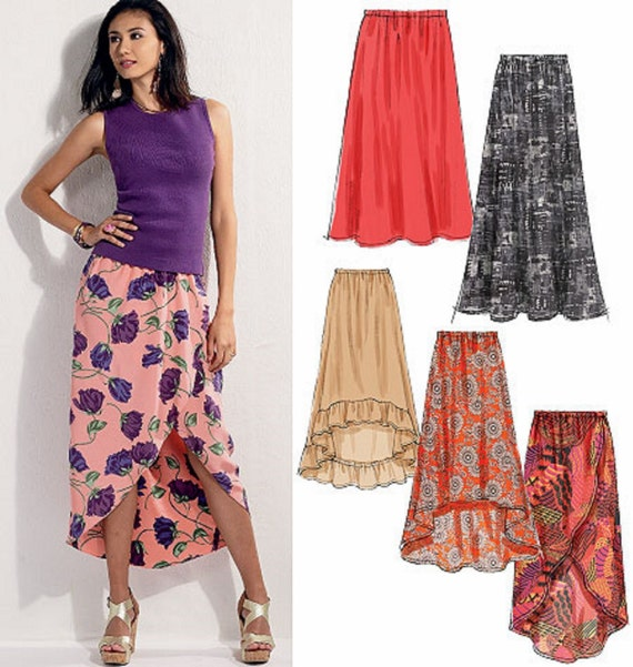 Sewing Pattern Easy Skirt Pattern High Low Skirt Pattern