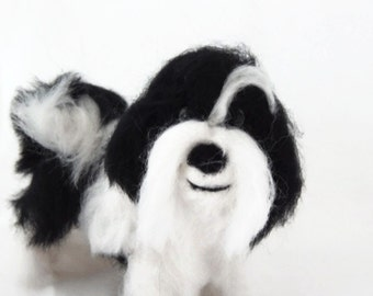 Custom Dog Sculpture, Needle Felted Dog Bespoke Dog Art - Havanese or any breed of Cat, Dog or Horse of Your Choice Made To Order