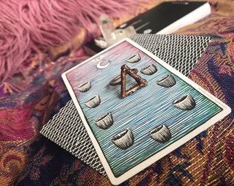 Copper Elemental Symbol Ring Fire/Water SZ 7