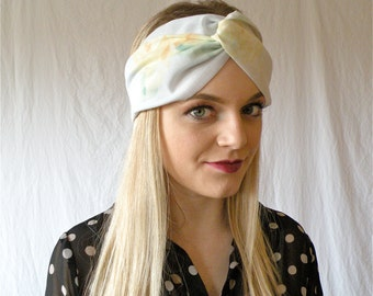 Turban Headband Colorful Pastel Floral Womens Accessory Spring