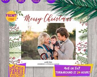 photo christmas card, printable holiday card, family christmas card, merry christmas card, custom christmas card, photo xmas card, digital