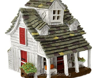 The Barn Farm House for Miniature Garden, Fairy Garden
