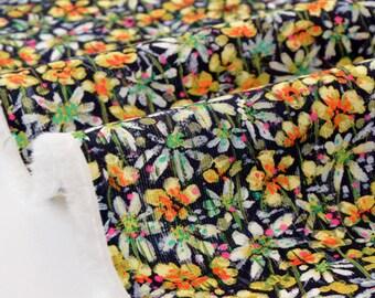 10% LIBERTY Baby Cord 73x132cm-Eleonora-yellow velvet fabric