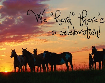 We Herd There's A Celebration! Card
