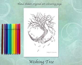 Wishing Tree Printable Colouring Page
