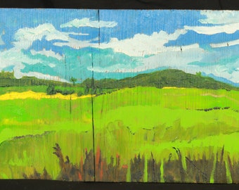 green valley oil painting