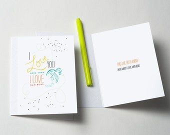 Man Bun Greeting Card