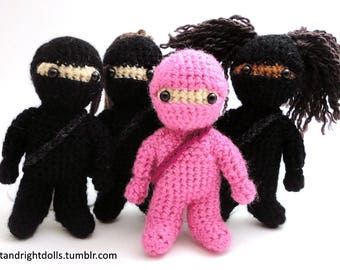 Ninja doll - Handmade crochet original design doll