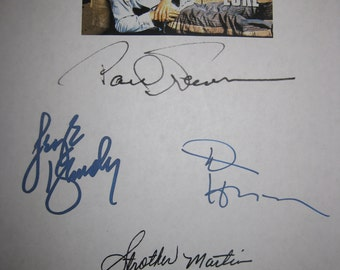 Cool Hand Luke Signed Film Movie Screenplay Script X5 Autograph Paul Newman George Kennedy Dennis Hopper Strother Martin Harry Dean Stanton