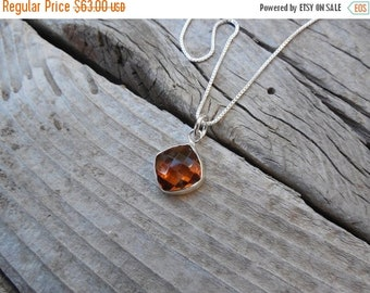 ON SALE Beautiful madeira citrine necklace handmade in sterling silver