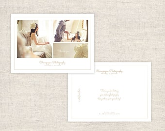 Minimal Wedding Photography Thank You Card Template - Photographer Thank You Card Template - Photo Card Templates - INSTANT DOWNLOAD