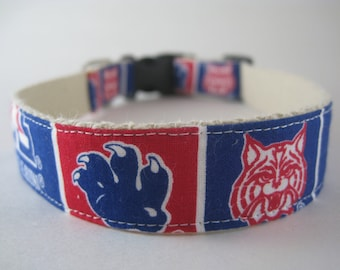 Arizona Wildcats hemp dog collar or leash