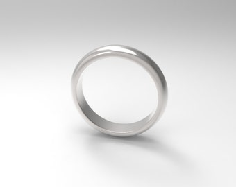 Half Round Style 3mm Wedding Band in Sterling Silver Stackable Ring for Men Size 8 to 16 Q1