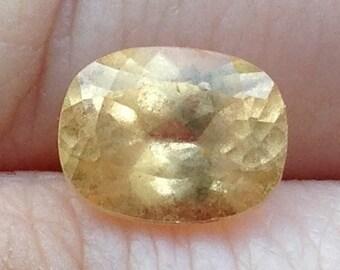 Yellow Garnet 2.40 Carats Natural Golden Gemstone 7x9mm