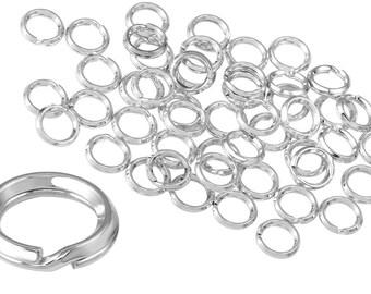 10 Pcs 5 mm Sterling Silver Split Rings (SS4003205)