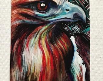 Small Art Print:  Red-tailed Hawk  -  JERIKA RENEE ART  - Free Shipping