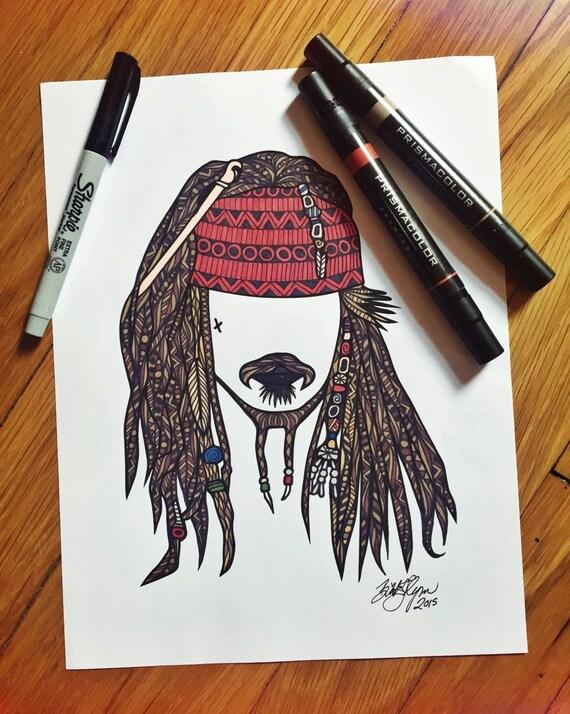 Captain Jack Sparrow Print