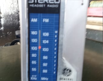 General Electric Stereo Headset Radio
