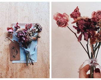 Dried Nosegay | petite bouquet in assorted dried florals