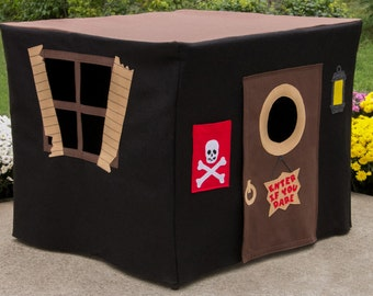 Pirate's Hideout Card Table Playhouse, Kids Tent, Play Tent, Tablecloth House, Custom Order