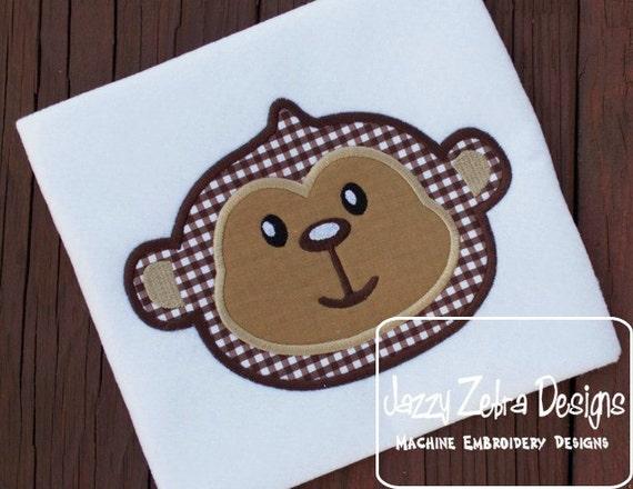 Monkey 45 Appliqué embroidery Design - monkey Appliqué Design - zoo Applique Design - baby Appliqué Design - circus Applique Design - jungle