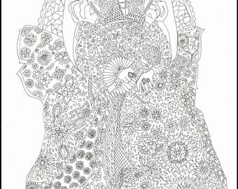 The Empress Colouring Page