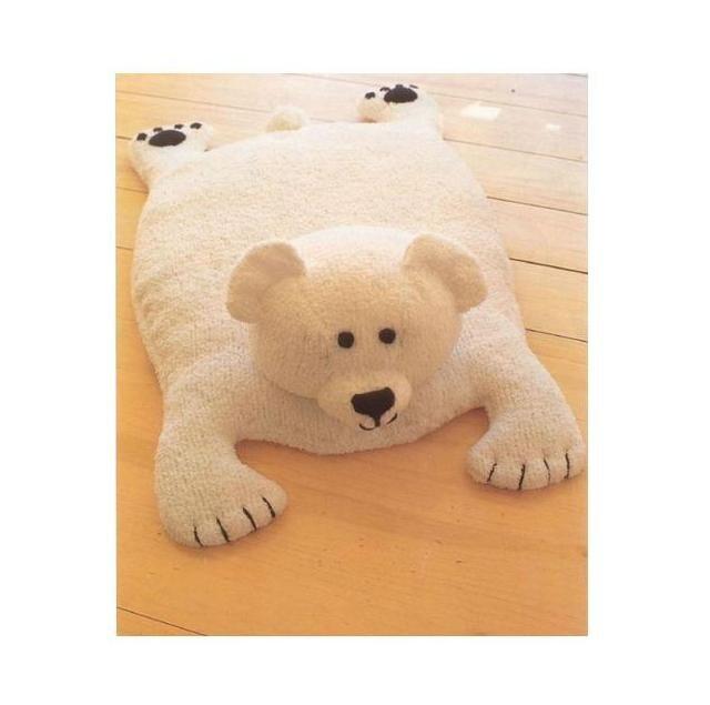 PDF Vintage Polar Bear Rug Knitting Pattern Vintage Retro