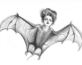 Batgirl Illustration Card