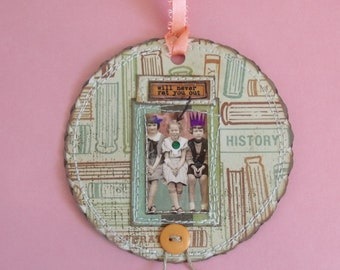"She ""Will Never Rat you Out"" mixed media Tag/Gift Tag/Scrapbook/Card"