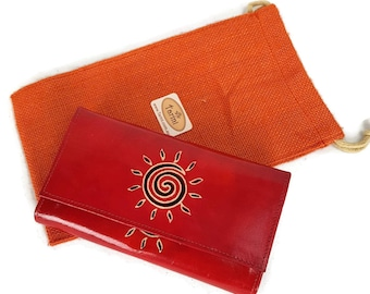 Red leather Leather wallet for Women , credit card wallet cardinal Red, Monedero de mujer, Christmas gift red wallet ,iPhone wallet